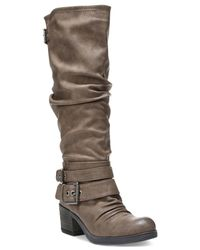 Carlos By Carlos Santana | Brown Claudia Wide Calf Tall Boots | Lyst