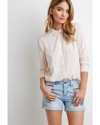 Forever 21 - Pink Contemporary Polka Dot Shirt You've Been Added To The Waitlist - Lyst