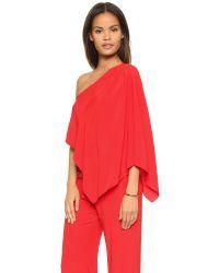 Ramy Brook - Red Olsen Silk Jumpsuit - Lyst