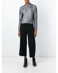 T By Alexander Wang - Metallic Plaited Full Sweater - Lyst