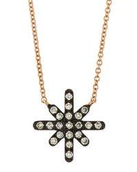 Diane Kordas | Metallic White Diamond Starburst Necklace | Lyst
