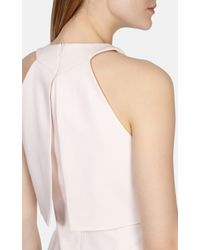 Karen Millen Pink Double Layer Bodice A Line Dress