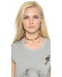Eddie Borgo Pink Small Safety Chain Choker - Rose Gold
