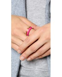 Marc By Marc Jacobs - Pink Hula Hoop Ring Set Black - Lyst