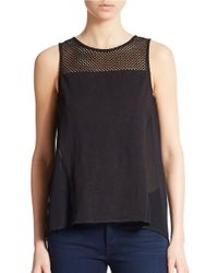 Sanctuary | Black Mesh Detail Tank | Lyst