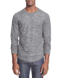 Todd Snyder - Gray Double Knit Long Sleeve Sweater for Men - Lyst