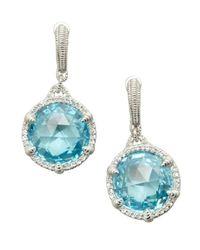 Judith Ripka - Sky Blue Crystal 'eclipse' Drop Earrings - Lyst