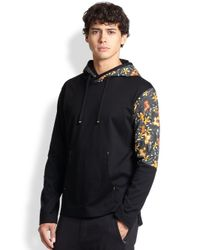 Y-3 - Black Aloha Floral Hoodie for Men - Lyst