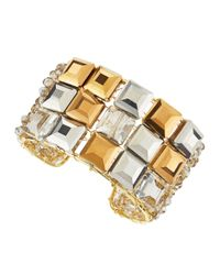 Panacea - Gray Square Crystal Cuff - Lyst