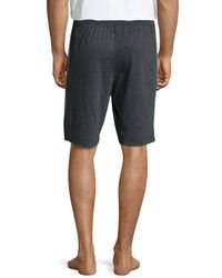Kenneth Cole - Black Drawstring Jersey Shorts for Men - Lyst