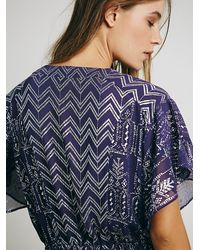Free People Purple Womens Love Your Chaos Dress