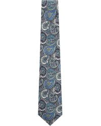 Etro | Paisley Print Silk Tie, Men's, Blue for Men | Lyst