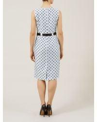 Precis Petite Powder Blue Spot Crinkle Dress