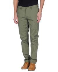 Ben Sherman Green Casual Trouser for men