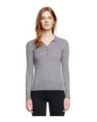 Tory Burch Gray Cashmere Sydney Sweater