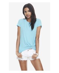 Express One Eleven Knot Front Tee - Blue