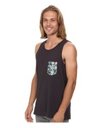 Rip Curl - Black Glasser Custom Tank Top for Men - Lyst