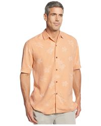 Tommy Bahama | Orange Big And Tall Short-sleeve Floral-print Shirt for Men | Lyst