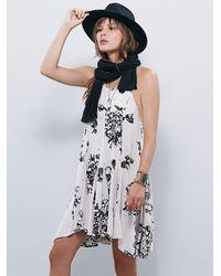 Free People - Black Fp X Womens Fp X Printed Swing Dress - Lyst