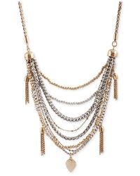 Lucky Brand - Multicolor Two-tone Tassel Necklace - Lyst