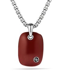 David Yurman - Exotic Stone Tablet with Red Jasper On Chain - Lyst
