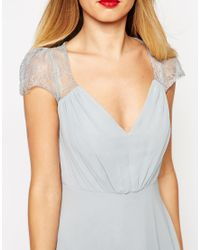 ASOS | Gray Kate Lace Maxi Dress | Lyst