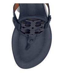 Tory Burch - Blue Miller Sandal, Leather - Lyst