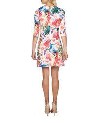 Cece by Cynthia Steffe Multicolor Bountiful Garden Scuba Dress