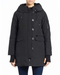 BCBGeneration | Black Faux Fur-trimmed Snorkel Coat | Lyst