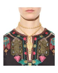 Valentino - Metallic Gryphon Necklace - Lyst