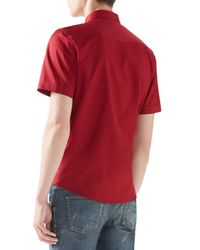 Gucci Purple Short-Sleeve Duke Shirt for men