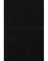 Valentino Black Stretch Knit Jacquard Dress
