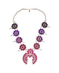 Doloris Petunia | Pink Ombre Squash Blossom Necklace, Purple | Lyst