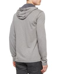 John Varvatos - Gray Space-dyed Pullover Hoodie for Men - Lyst