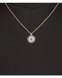 Express - Metallic Pave Circle Pendant Necklace - Lyst