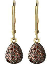 Links of London | Metallic Hope 18ct Yellow-gold And Cognac Diamond Earrings - For Women | Lyst
