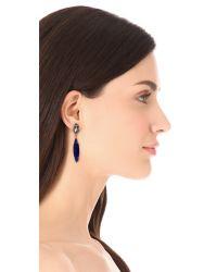 Noir Jewelry | Blue Gem Drop Earrings | Lyst