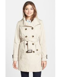 London Fog Natural Double Breasted Trench Coat With Detachable Liner