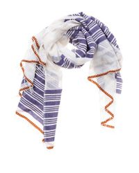 lemlem | Purple Safara Split Square Scarf | Lyst
