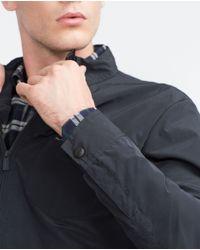 Zara | Blue Overshirt With Zip for Men | Lyst