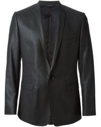 Dolce & Gabbana Gray Pinstripe Suit for men