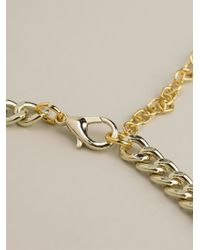 Night Market - Multicolor Golden Leaves Necklace - Lyst
