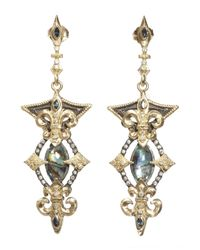 Armenta | Metallic Marquis Mother-Of-Pearl & Rose De France Doublet Earrings | Lyst
