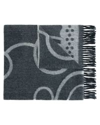 Henrik Vibskov - Gray Patterned Fringed Scarf - Lyst