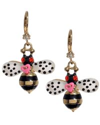 Betsey Johnson | Metallic Bumble Bee Drop Earrings | Lyst