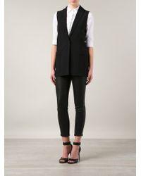 Givenchy - Black Sleeveless Blazer - Lyst