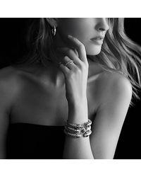 David Yurman - Metallic Crossover Bracelet With Prasiolite And Diamonds - Lyst