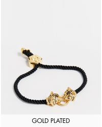 Bill Skinner | Black Gold Plated Tiger Friendship Bracelet | Lyst