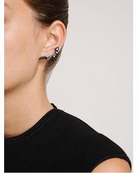Fernando Jorge 18k Oxidised Gold and Black Diamond Lobe Earrings