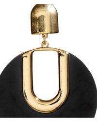 H&M Metallic Mirror Earrings